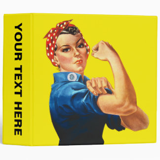 Rosie the Riveter, We Can Do It! 3 Ring Binder