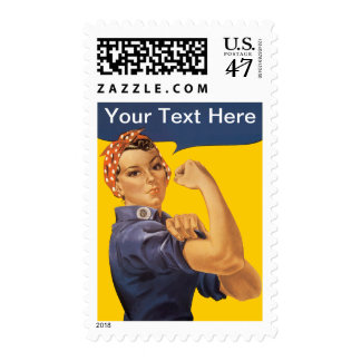 Rosie the Riveter We Can Do It!  Add Your Own Text Stamp