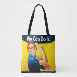 "Rosie the Riveter - ""We Can Do It!"" All-Over Bag Tote Bag"