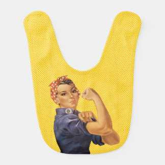 Rosie the Riveter We Can Do It Ben Day Dots Baby Bib
