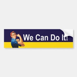 Rosie The Riveter - We Can Do It! Bumper Sticker