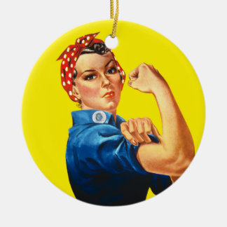 Rosie the Riveter, We Can Do It! Ceramic Ornament