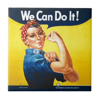"""Rosie the Riveter """"We Can Do It!"""" Ceramic Tile"""