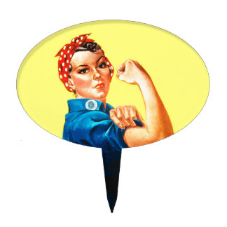 Rosie the Riveter - We can do it, Cultural Icon Cake Topper