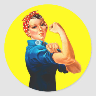 Rosie the Riveter - We can do it, Cultural Icon Classic Round Sticker