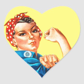Rosie the Riveter - We can do it, Cultural Icon Heart Sticker