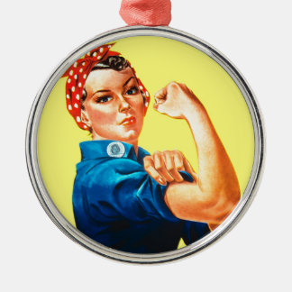 Rosie the Riveter - We can do it, Cultural Icon Metal Ornament