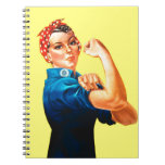 Rosie the Riveter - We can do it, Cultural Icon Spiral Notebooks