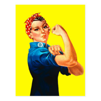 Rosie the Riveter - We can do it, Cultural Icon Postcard