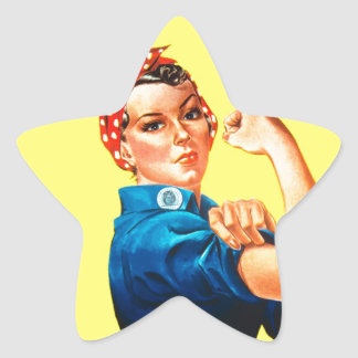 Rosie the Riveter - We can do it, Cultural Icon Star Sticker