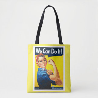 Rosie the Riveter We can do it Cute and Fun Tote Bag