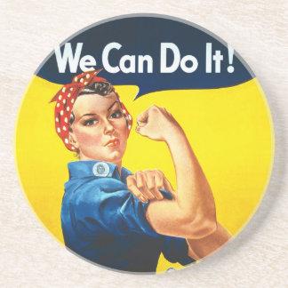 """Rosie the Riveter – """"We Can Do It!"""" Drink Coaster"""