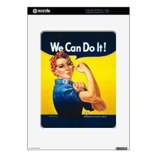 """Rosie the Riveter – """"We Can Do It!"""" iPad Skin"""