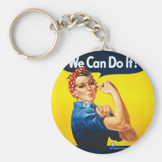 """Rosie the Riveter – """"We Can Do It!"""" Keychain"""