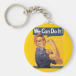 "Rosie the Riveter ""We Can Do IT "" Keychain"