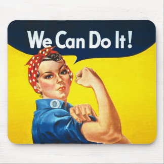 """Rosie the Riveter – """"We Can Do It!"""" Mouse Pad"""
