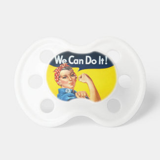 "Rosie the Riveter – ""We Can Do It!"" Pacifier"