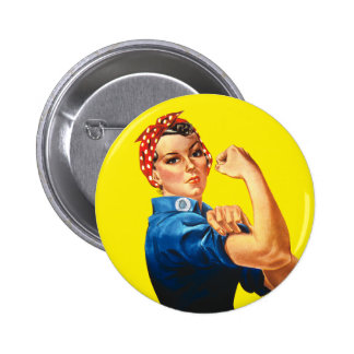 Rosie the Riveter, We Can Do It! Pinback Button