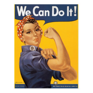 "Rosie the Riveter ""We Can Do IT "" Post Card"