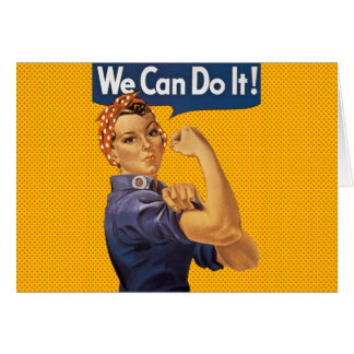 Rosie the Riveter We Can Do It Red Polka Dots Card