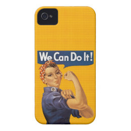 Rosie the Riveter We Can Do It Red Polka Dots Case-Mate iPhone 4 Case