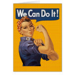 Rosie the Riveter We Can Do It Red Polka Dots Greeting Card