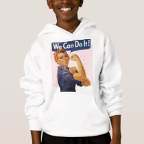 Rosie the Riveter We Can Do It Red Polka Dots Hoodie