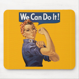 Rosie the Riveter We Can Do It Red Polka Dots Mouse Pad