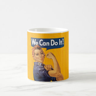 Rosie the Riveter We Can Do It Red Polka Dots Coffee Mugs