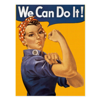 Rosie the Riveter We Can Do It Red Polka Dots Postcard