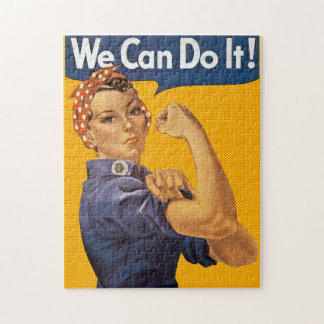 Rosie the Riveter We Can Do It Red Polka Dots Jigsaw Puzzle