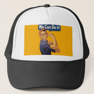 Rosie the Riveter We Can Do It Red Polka Dots Trucker Hat