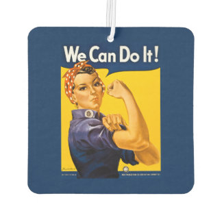 Rosie the Riveter We Can Do It Retro Vintage Air Freshener