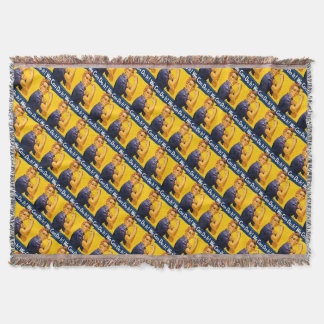 Rosie the Riveter We Can Do It Retro Vintage Icon Throw Blanket