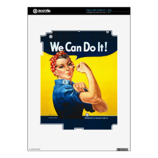 """Rosie the Riveter – """"We Can Do It!"""" Skins For iPad 2"""