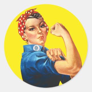 Rosie the Riveter, We Can Do It! Round Sticker