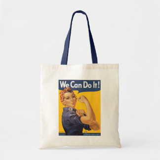 "Rosie the Riveter ""We Can Do IT "" Tote Bag"