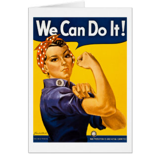 Rosie the Riveter We Can Do It Vintage Card