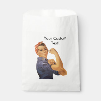 Rosie the Riveter We Can Do It Vintage Custom Text Favor Bag