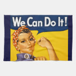 Rosie the Riveter We Can Do It Vintage Hand Towels