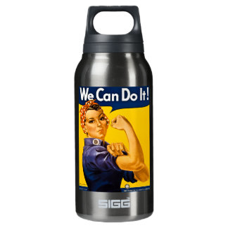 Rosie the Riveter We Can Do It Vintage Insulated Water Bottle