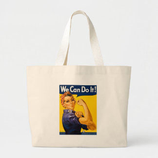 Rosie the Riveter We Can Do It Vintage Large Tote Bag