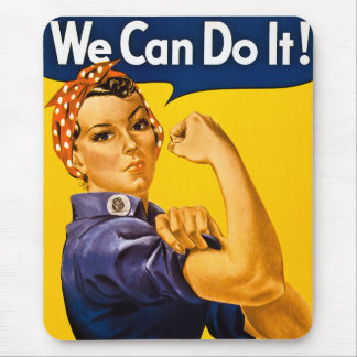 Rosie the Riveter We Can Do It Vintage Mouse Pad