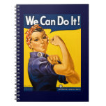 Rosie the Riveter We Can Do It Vintage Spiral Notebook