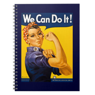 Rosie the Riveter We Can Do It Vintage Notebook