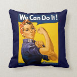 Rosie the Riveter We Can Do It Vintage Pillows