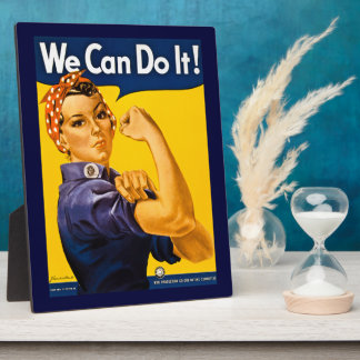 Rosie the Riveter We Can Do It Vintage Photo Plaques