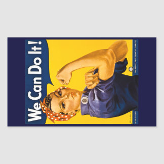 Rosie the Riveter We Can Do It Vintage Rectangular Sticker