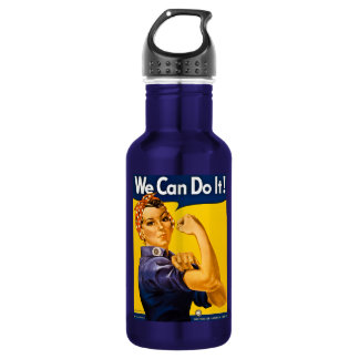 Rosie the Riveter We Can Do It Vintage Stainless Steel Water Bottle