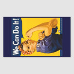 Rosie the Riveter We Can Do It Vintage Rectangular Sticker